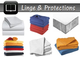 catalogue linge et protection